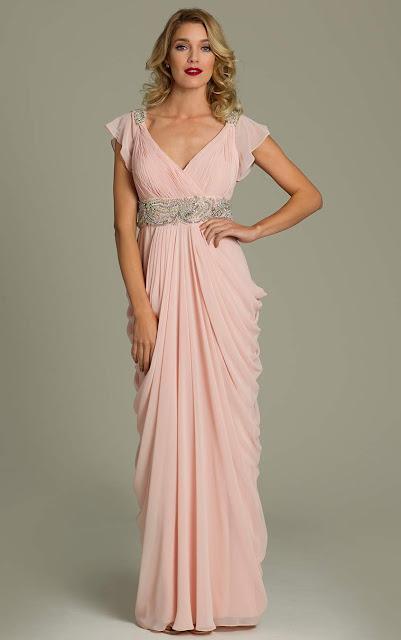 robe invite mariage rose poudre mod les populaires de robes de soir e. Black Bedroom Furniture Sets. Home Design Ideas