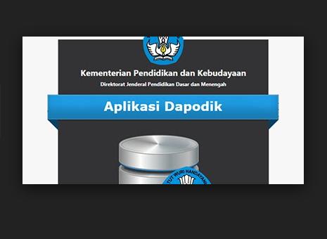 Aplikasi Dapodikmen Versi 2018 Update