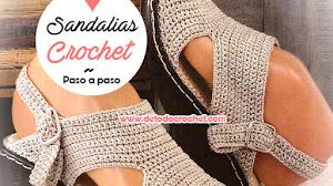 Sandalias tejidas a crochet / Paso a paso