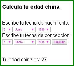 Calendario Chino Para Saber Si Es Nina O Nino.Tabla Maya