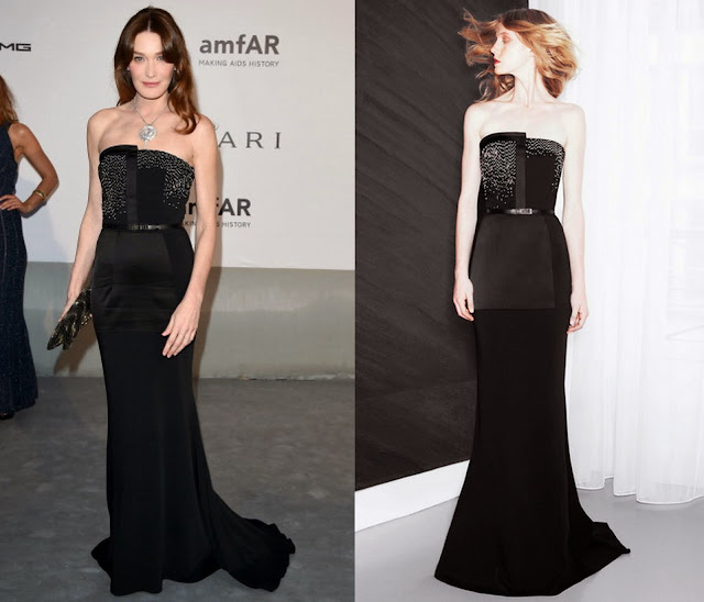 Carla Bruni-Sarkozy in Maxime Simoëns – amfAR Cinema Against Aids Gala