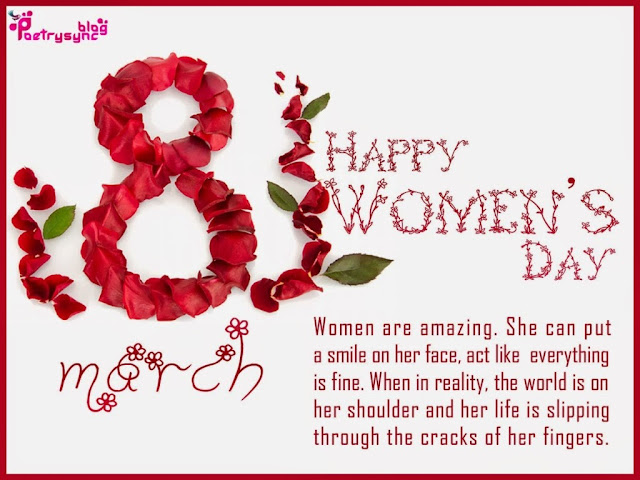 Happy Women's Day 2017 SMS Wishes Message - Top Wishing Quotes & Wishing Message of Women's Day