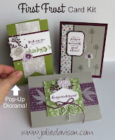 Stampin' Up! First Frost Card Kit ~ 2018 Holiday Catalog ~ Stamp of the Month Club Card Kit ~ www.juliedavison.com