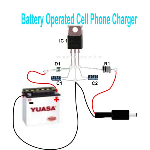 Simple Mobile Charger Circuit Diagram