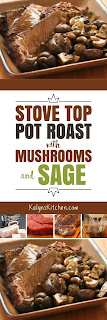 Stove-top Pot Roast Recipe with Mushrooms and Sage found on KalynsKitchen.com