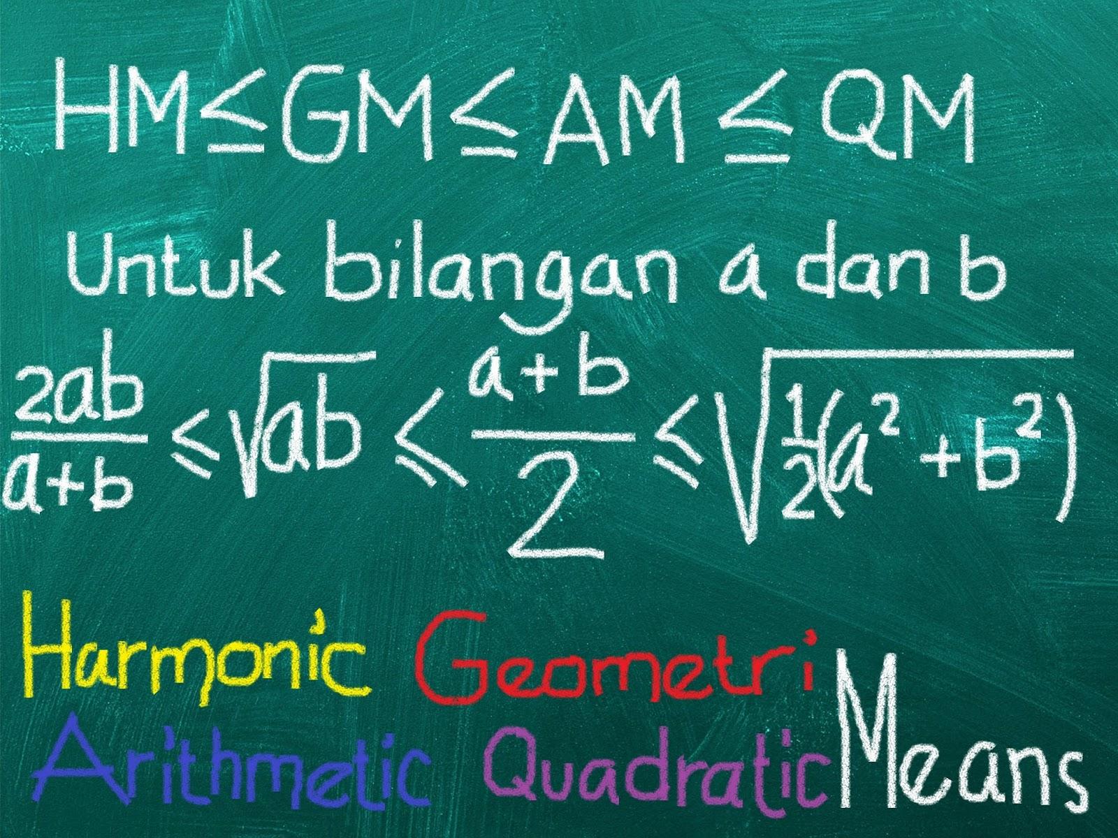 Pertidaksamaan HM-GM-AM-QM