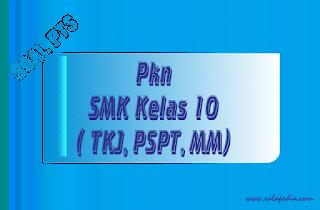 Soal PTS PKn SMK Kelas 10 Semester 2 (genap) Plus Kunci Jawaban