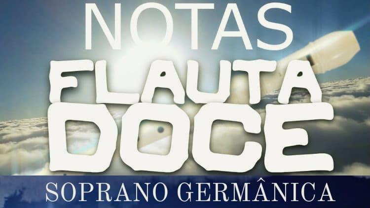 Posição das notas na flauta doce soprano germânica