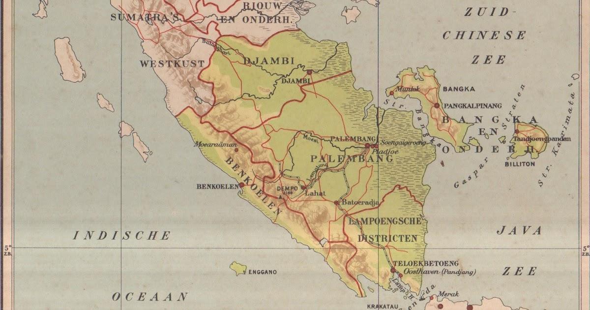 rejang lebong peta sumatera selatan 1936