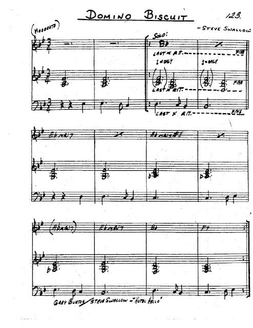 Partitura Saxofón Steve Swallow
