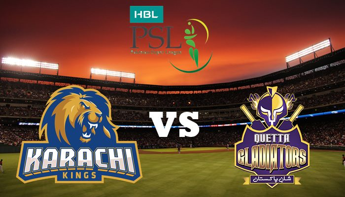 Watch Live Match Of Karachi Kings vs Quetta Gladiators