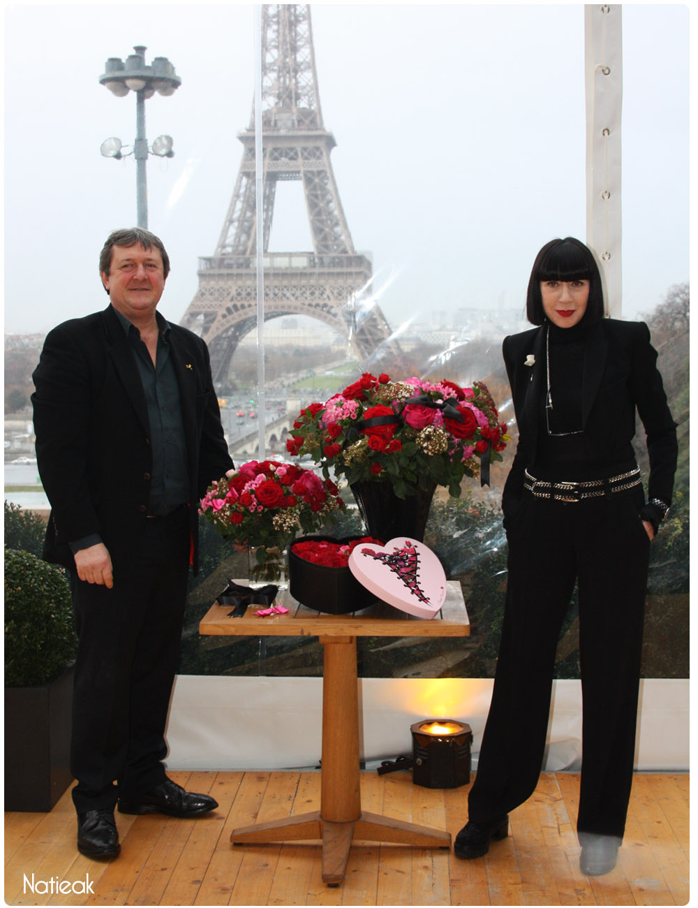 Chantal Thomas et Gille Pothier collection florale Saint -Valentin Interflora