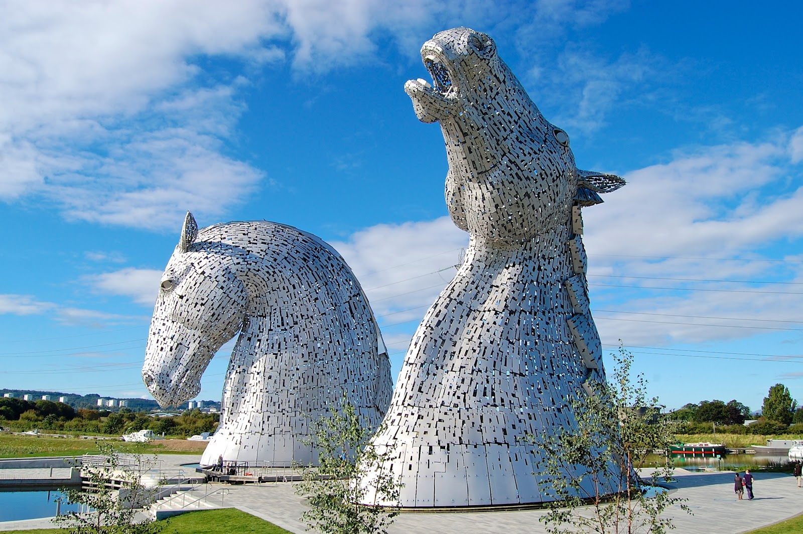 The Kelpies statues in Falkirk, Scotland