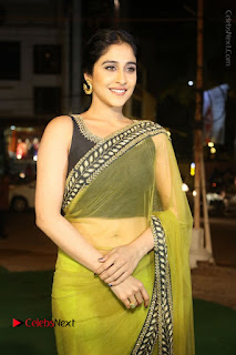 Actress Regina Stills in Green Saree at Vivaha Bhojanambu Restaurant Launch  0069.JPG