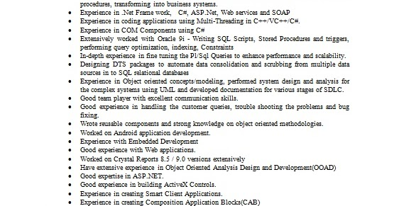 how to write a resume for senior software engineer in word