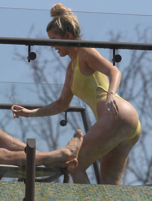 Khloé Alexandra Kardashian Yellow Bikini Dress in  Costa Rica