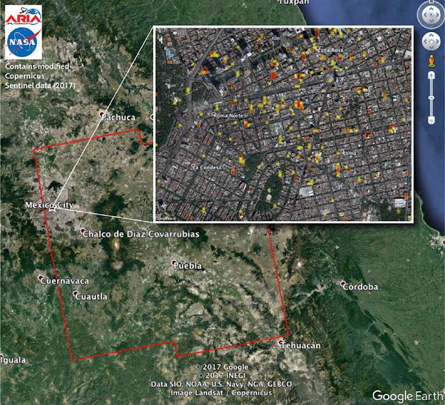 zonas dañadas por terremoto Mexico