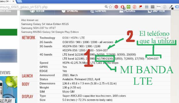 Banda LTE de SGH-i337