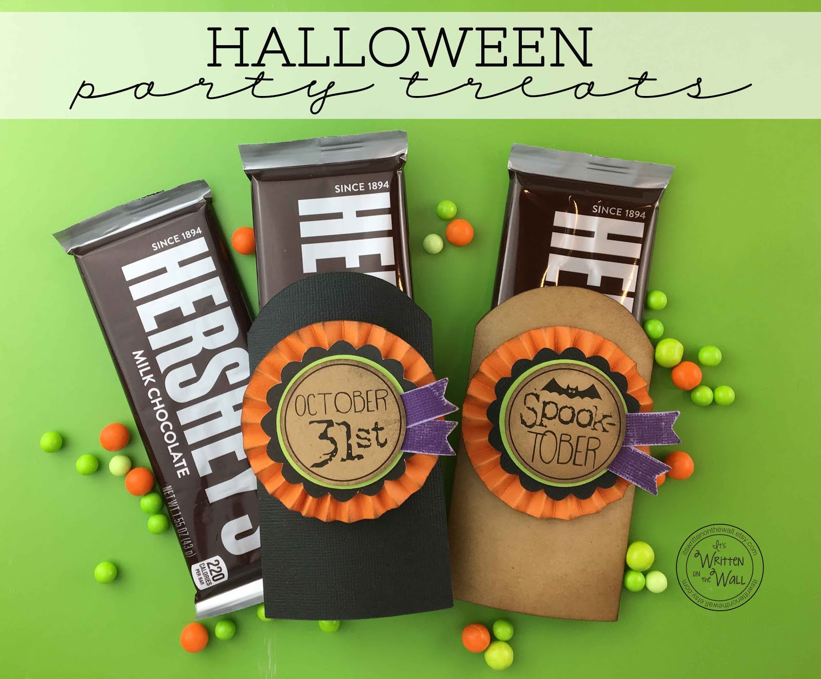 Halloween Spook-Tober Candy Bar Wraps