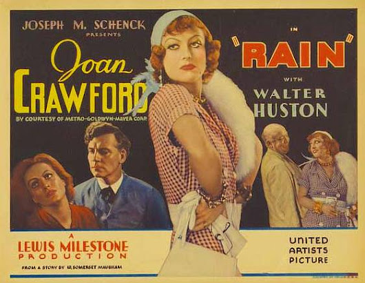 "da ""Rain"", film e short story, a Somerset Maugham e Graham Greene, a Joan Crawford e Bette Davis"