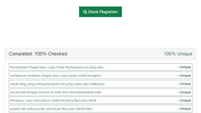 Mendeteksi Plagiat atau Copy Paste dengan Plagiarsm Checker