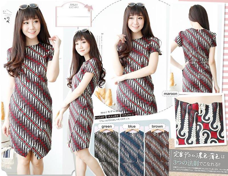 Jual Baju Batik Batik Dress Daniella - 13141