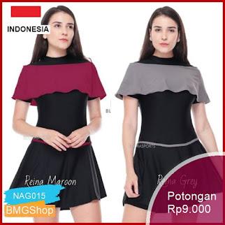 NAG015 Baru Baju Renang Wanita Semicover Reina Murah Bmgshop