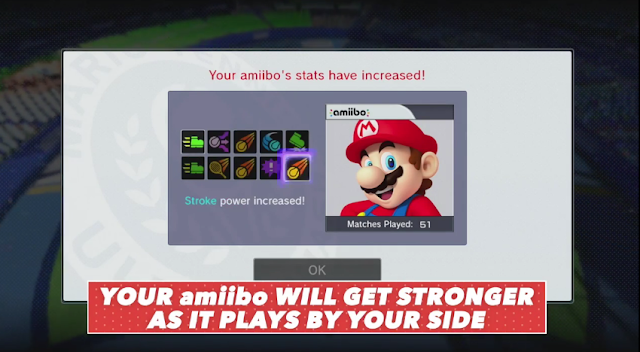 amiibo Mario Tennis Ultra Smash training partner stats doubles