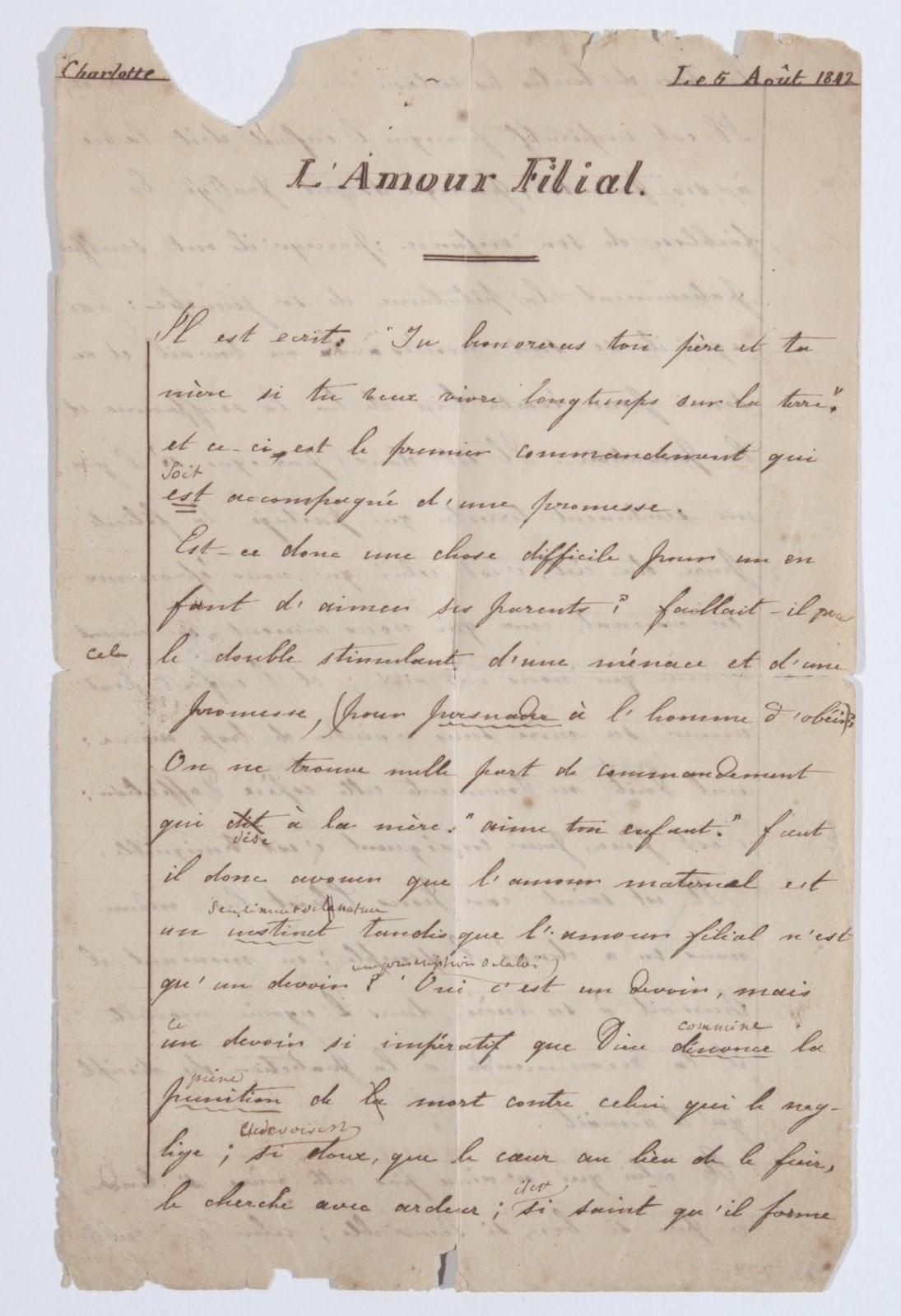 Charlotte bronte brussels essays