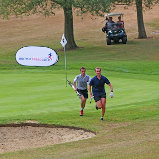 Action from the 2018 Pairs Championship. Photo by British Speedgolf