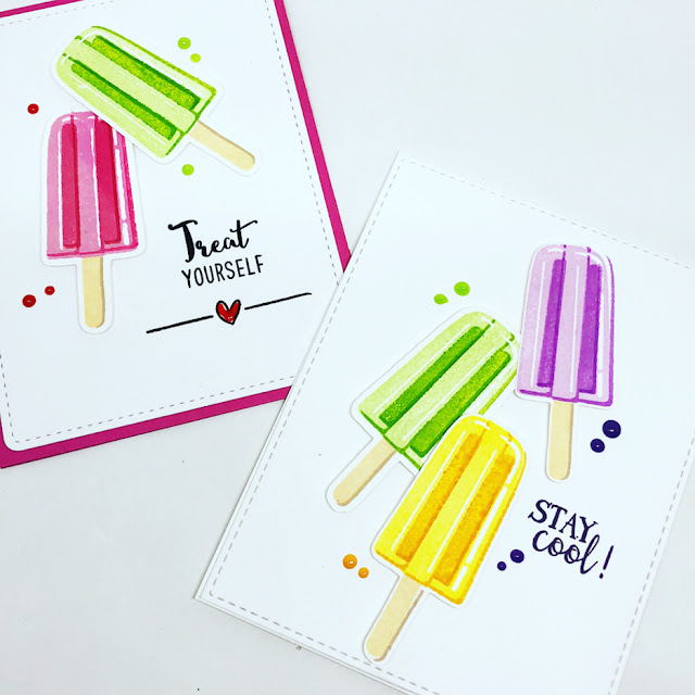 Sunny Studio Stamps: Perfect Popsicles Customer Card Share by Lee Ann