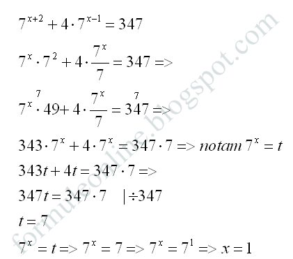 exponential equation example with solution