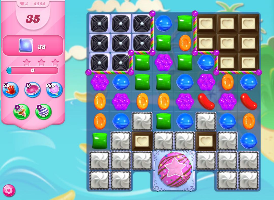 Candy Crush Saga level 4364