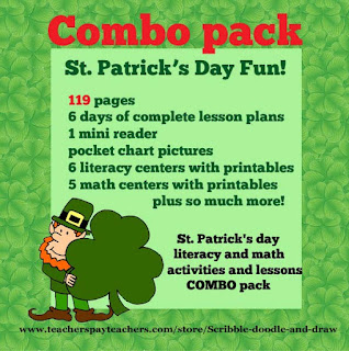 Unit plan for teachers for St. Patrick's day including worksheets and lesson plans