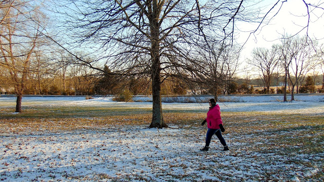 Walking in snow is a good workout! #WinOverWinter #ad