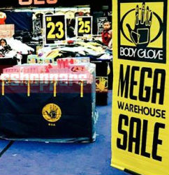 Body Glove Warehouse Clearance 2017