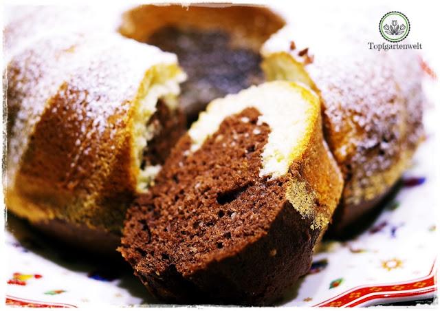 Gartenblog Topfgartenwelt Food-Fotografie: ein Mamorkuchen zum Reinbeißen