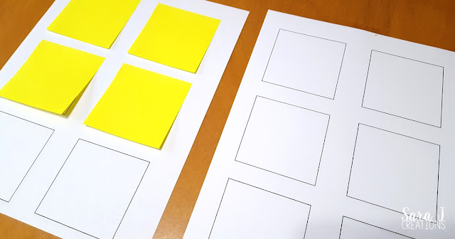 Printing sticky note template