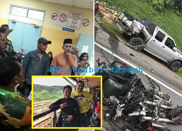 SAYU !! Wan anak saudara Dato Rosyam Nor maut tercampak dan digilis, motosikal GTR nya rempuh Hilux ..  (10 Gambar)