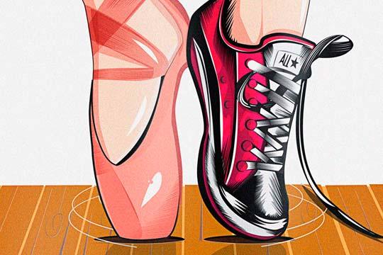 Ilustración, Converse dance de Ricardo Torres