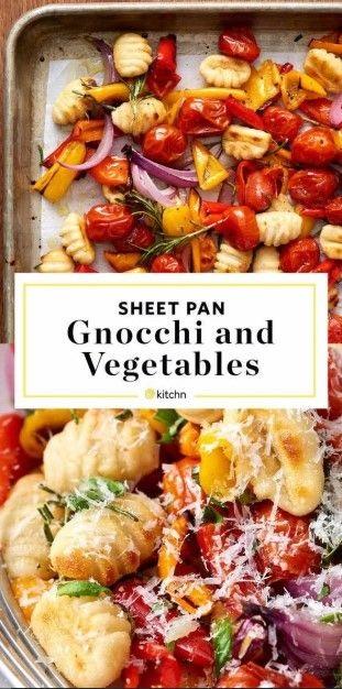 Crispy Sheet Pan Gnocchi And Veggies Recipe