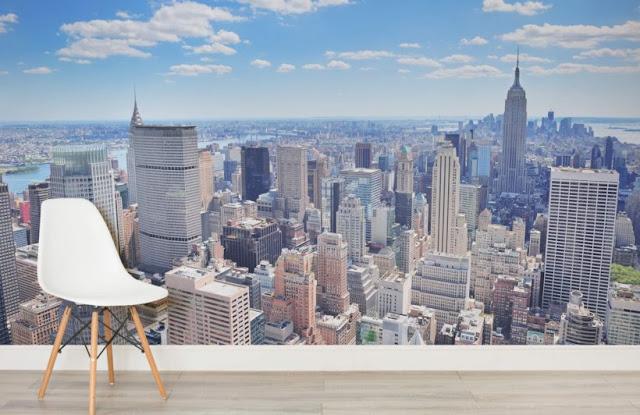 fototapet new york tapet manhattan skyline panorama fondtapet