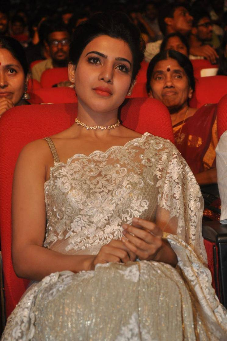 Samantha Images In White Saree At 24 Movie Audio Launch ❤ ❤  ❤