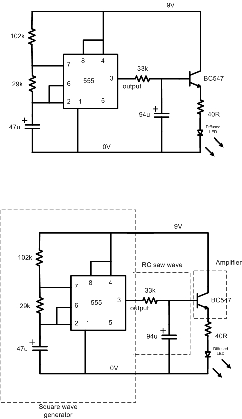 led fader circuit