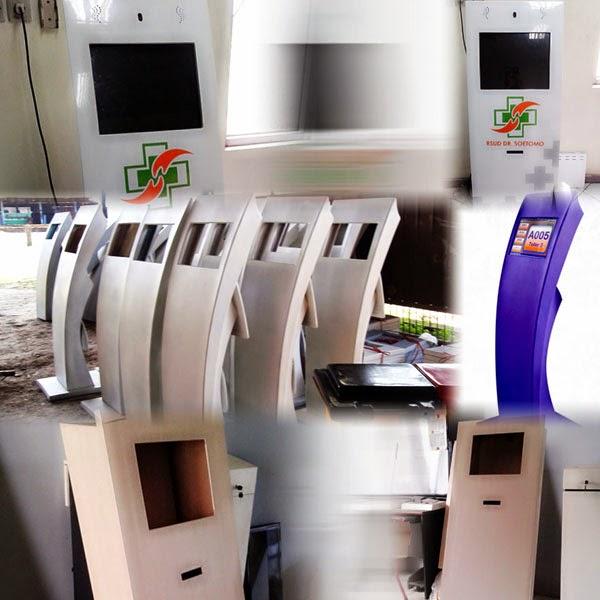 KiosK interaktif mesin antrian