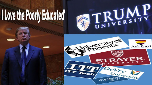 Image result for big education ape trump university