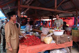 Sebelum Ramadhan Bupati Sidak Harga Pangan Di Pasar