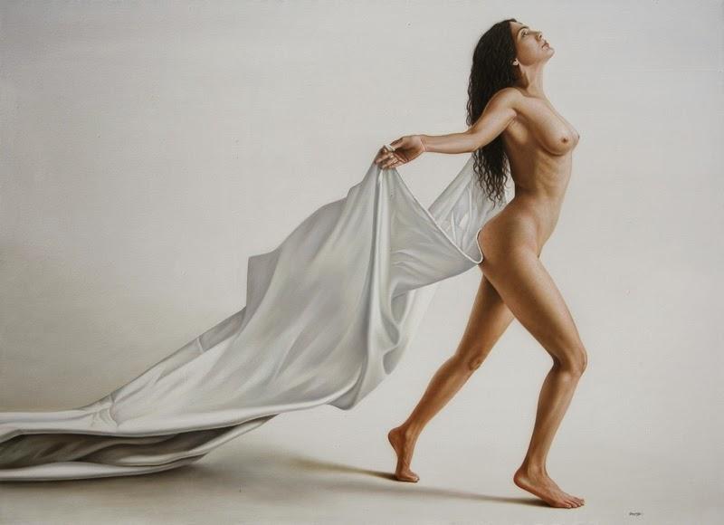 O Voo - Omar Ortiz | Pintura Sensual Hiper-Realista  - Mexicano