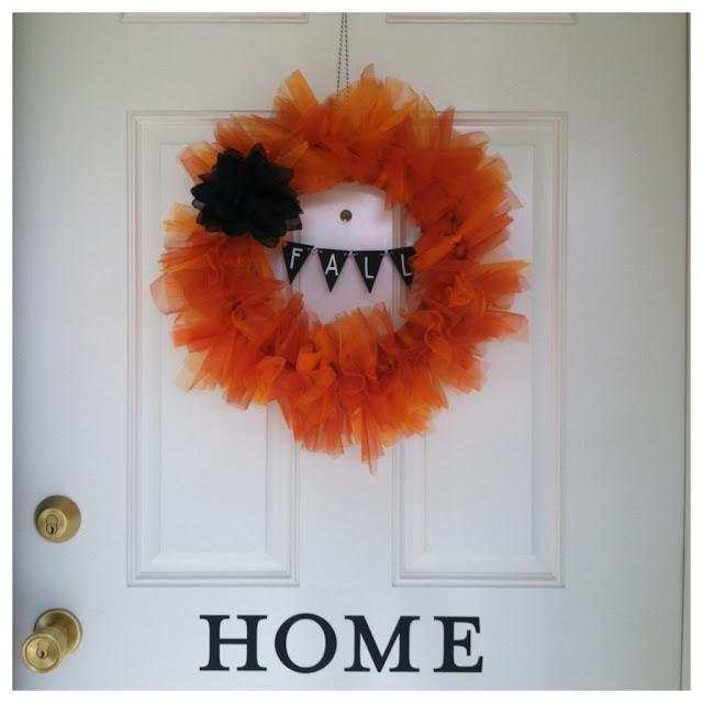 Organza DIY Fall Wreath - LeroyLime