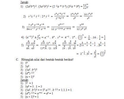 Bank Soal Matematika Kelas X Sma Bentuk Pangkat Ibu Guru Susi Sr